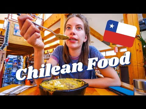 Trying CHILEAN DISHES (Salmon Ceviche & Corn Pie 🌽) + First Impressions of PUERTO NATALES, Chile 🇨🇱