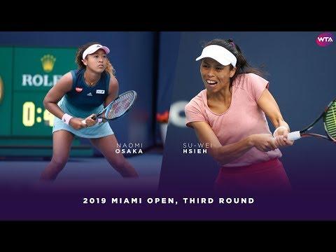 Naomi Osaka vs. Hsieh Su-Wei    2019 Miami Open Third Round   WTA Highlights