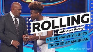 Steve Harvey Gets Tricked By Magician