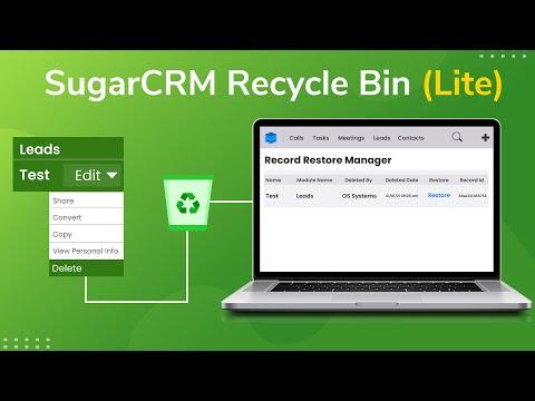 SugarCRM Recycle Bin (Lite)