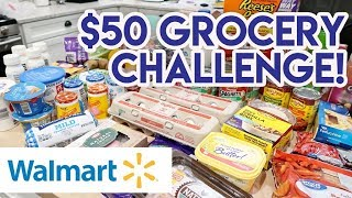 🛒 $50 GROCERY BUDGET WALMART HAUL! 😲 I SAVED $30 ON MY GROCERIES! 🍽 GROCERY HAUL AND MEAL PLAN