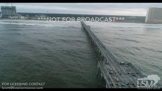 10 11 18 Panama City Beach, FL First Light Drone View Of Damaged Pier.mp4