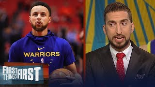 Pressure on Steph Curry in Game 3 with no KD and Klay - Nick Wright | NBA | FIRST THINGS FIRST