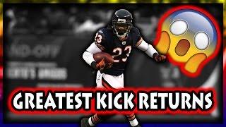 Greatest Kick Returns in Football History