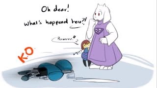 Toriel isn't particularly happy with Frisk! (Undertale Comic Dub Compilation)