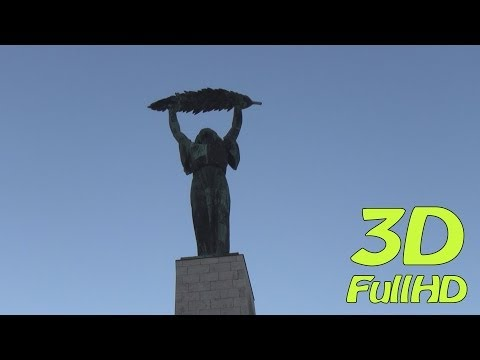[3DHD] Walking Tour/Gyalogtúra: Gellért Hill / Gellért-hegy, Budapest, Hungary / Magyarország