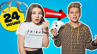 HANDCUFFED to my BOYFRIEND for 24 HOURS Challenge *BAD IDEA* ❤️🗝| Piper Rockelle
