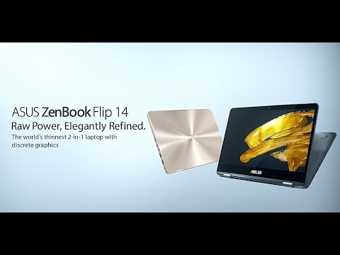 ASUS ZenBook Flip 14 – The world's thinnest 2-in-1 laptop with