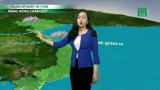 VTC14   Thời tiết cuối ngày 08/05/2018   Mưa lan rộng đêm nay và sáng mai ở miền Bắc