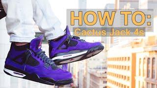 b51c38999213b9 HOW TO  Customize TRAVIS SCOTT CACTUS JACK Jordan 4 DIY Tutorial