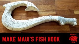 Maui's fish hook made from styrofoam insulation, easy