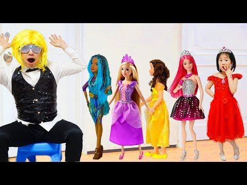 보람이와 공주인형 파티놀이 Boram and Princess doll Dress Up and Make Up Toys