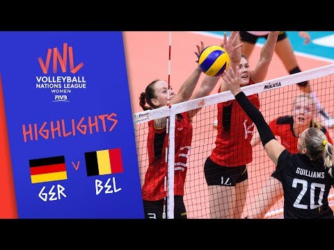 GERMANY vs. BELGIUM - Highlights Women | Week 4 | Volleyball Nations League 2019
