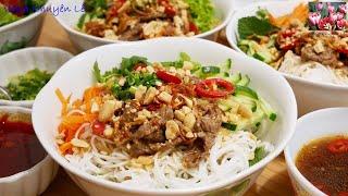 BÚN BÒ XÀO - Cách làm Bún Thịt Bò Xào nước Mắm Me - Bún Bò Nam Bộ by Vanh Khuyen