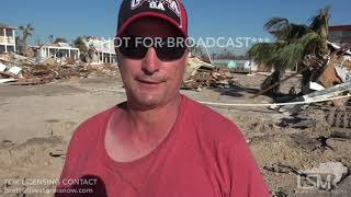 10-13-2018 Mexico Beach, Fl Survivor of Hurricane Michael tells his near death experience SOT