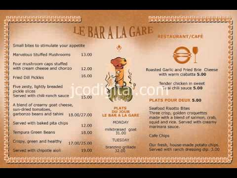 Cafe and Restaurant Menu Board, #4