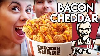 Um balde de Cheddar e Bacon - KFC Chicken Share