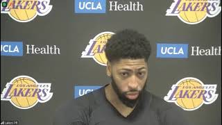Anthony Davis Postgame; Lakers beat the Pelicans