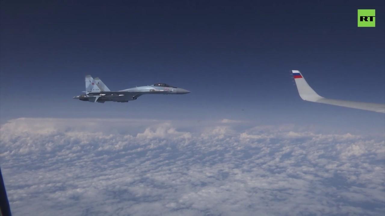 Су-27 отогнал истребитель НАТО от самолёта Шойгу