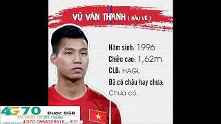 Danh sách + tiểu sử cầu thủ U23 Việt Nam Tham dự giải Châu Á 2018 tại Trung Quốc + việt nam á quân