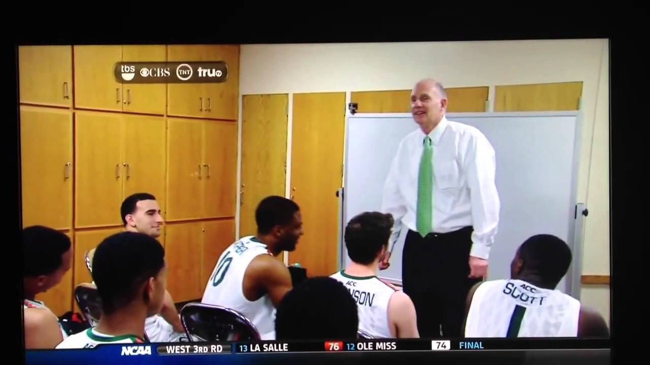 Miami - Jim Larranaga Post game speech - YouTube