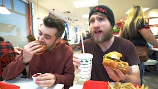 HIS FIRST TIME EATING IN N OUT REACTION!