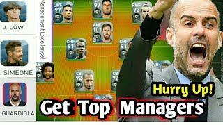 Top 5 Manager with Highest Management Skills in PES 2018 MOBILE