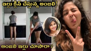 Watch: Actress Anjali lockdown moments..