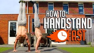 Learn How To Handstand! (FULL HANDSTAND TUTORIAL!) | Fast Progress Challenge