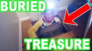 Real Life Buried Treasure Under My Moms House!