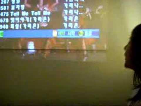 Me singing 한번 더 OK at karaoke~