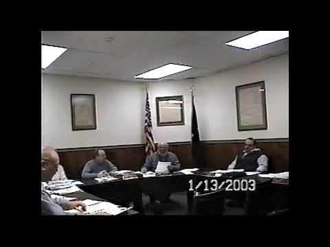 Champlain Village Board Meeting  1-13-03