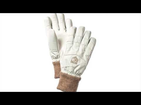 Hestra Ski Gloves Hestra Swisswool Merino Loft Ski Gloves in Off White