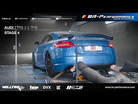 +800HP AUDI TTRS  DYNO PULLS / Stage 4 By BR-Performance / *FLAMES*