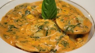 Homemade Ravioli with Broccoli Filling with Pink Sauce | Winning Recipe | Doctor's Recipe Contest