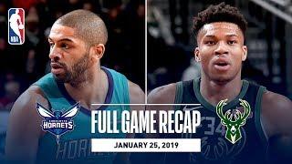 Full Game Recap: Hornets vs Bucks   Giannis Antetokounmpo Goes For 34 Points