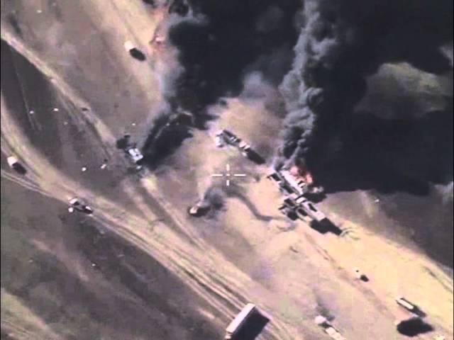 Уничтожение автомобильной техники террористов, перевозящей нефтепродукты
