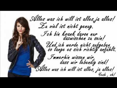 Baixar Victoria Justice ft Victorious Cast -All I Want Is Everything *deutsche Lyrics* (german)