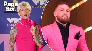 Conor McGregor and Machine Gun Kelly get into fight on VMAs red carpet | Page Six Celebrity News
