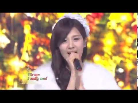 Suzy&Seohyun&Hyorin - All I want for christmas is you @SBS Inkigayo 인기가요 20111225