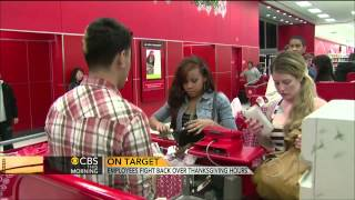 Target employees fight back over Thanksgiving hours