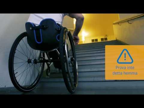 Kan man ta sig upp (och ner) för en trappa i rullstol? (Swedish)