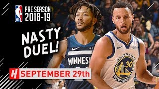 Stephen Curry vs Derrick Rose NASTY Duel Highlights 2018.09.28 - 21 for Steph, 16 for Rose!