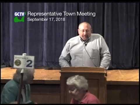 Representative Town Meeting, September 17, 2018