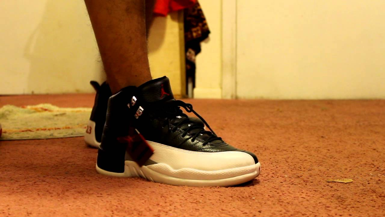 online store 7118e a79b7 Playoff 12s On Feet