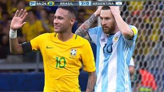 O DIA QUE O NEYMAR HUMILHOU A ARGENTINA COM MESSI EM CAMPO!