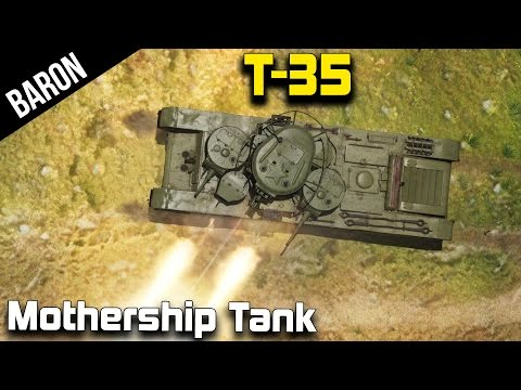 War Thunder - T-35 Mothership Protection, Send in the Swarm!!!