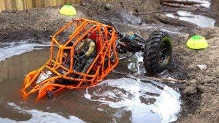 TANGO ROCK BOUNCER rips MUD on the Backyard Trail Course - NEON ORANGE MOA 4x4   RC ADVENTURES