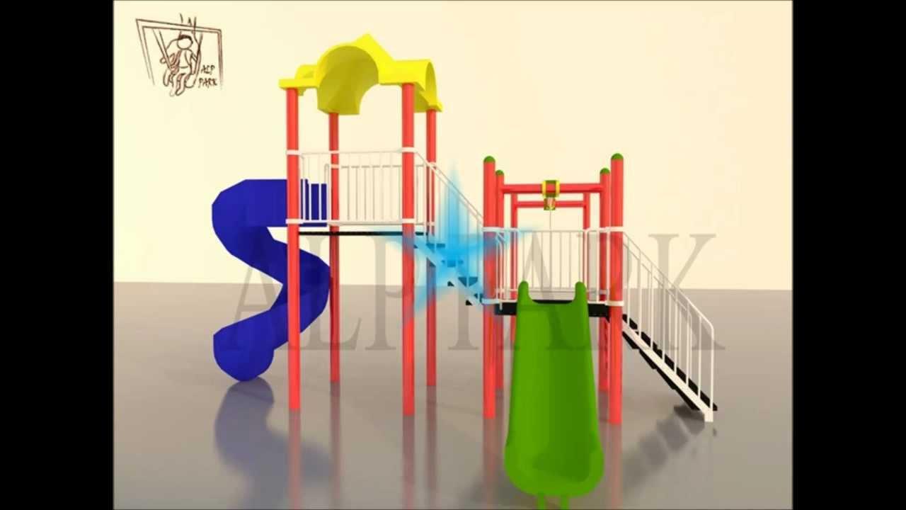 çocuk oyun parkı .mp4- children#39;s play area - aire de jeux po