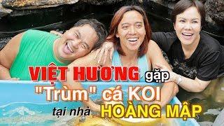 """Việt Hương gặp """"trùm"""" cá Koi tại nhà Hoàng Mập"""